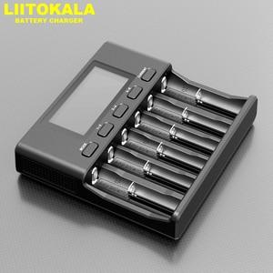 Image 5 - LiitoKala Lii 500S ładowarka 18650 ładowarka do 18650 26650 21700 baterie AA AAA sprawdź pojemność baterii sterowanie dotykowe
