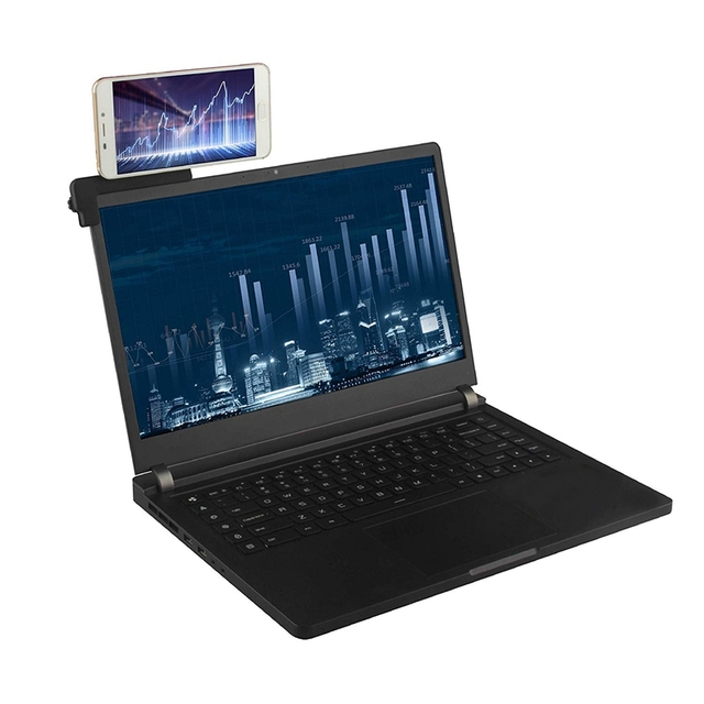 Side Mount Clip for Dual Monitor Experience and No Sheltering From Sight, Compatible with Most Ipads/Laptops/Phones, Convenient