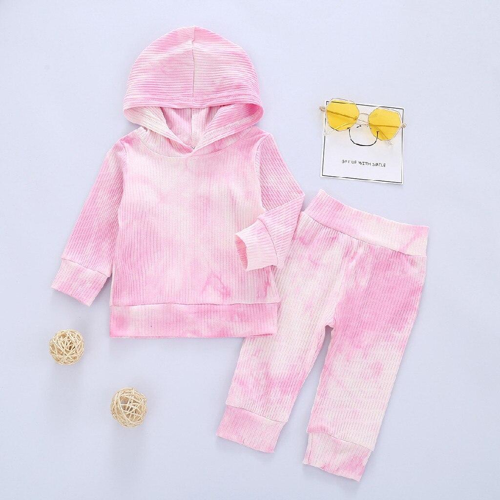Sudadera con capucha y pantalones de manga larga para recién nacidos, ropa para bebés, niños y niñas, color liso, # L35