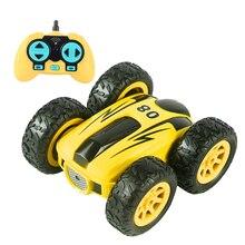 2.4G 4CH Remote Control Car Drift Double-sided Bounce Stunt Car Rock Crawler Roll Car 360 Degree Flip Kids Robot RC Car Toys