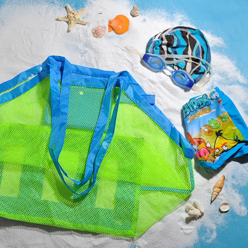 Children Beach Tools Toy Storage Bag Digging Sand Tool Bags Clothes Towel Toys Oversize Portable Pack