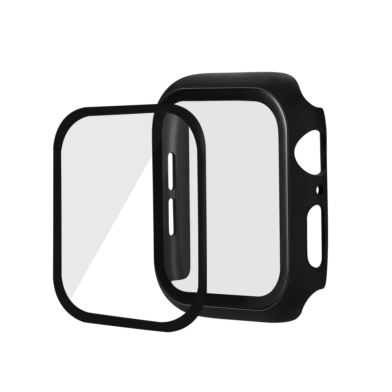 Tempered Glass Film Full Cover For Apple Watch Case Series 2 3 4 5 Bumper Screen Protector For iWatch 44mm 42mm 40mm 38mm Case image