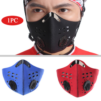 PM 2.5 Activated Carbon Mask Dustproof Cycling Face Mask Anti-Pollution Bicycle Bike Mask Sport Running Training Mask Filter