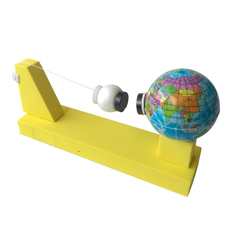 1Pcs Creative Earth Moon Gravity Physical Science Experiment Children Educational Gizmo Toys DIY Student Science Model Toy