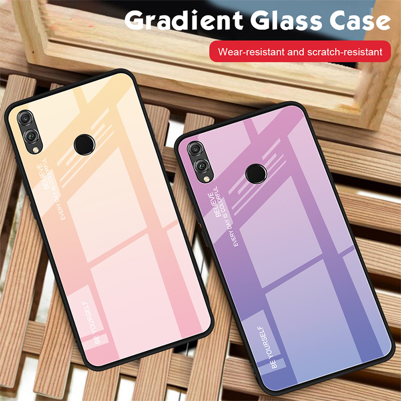 Tempered Glass <font><b>Case</b></font> for <font><b>Honor</b></font> <font><b>8X</b></font> <font><b>Max</b></font> 8A 7C 7A <font><b>Case</b></font> for Huawei <font><b>Honor</b></font> 9 10 20 Lite 10i 20i Note 10 View 20 Glossy Back Cover image