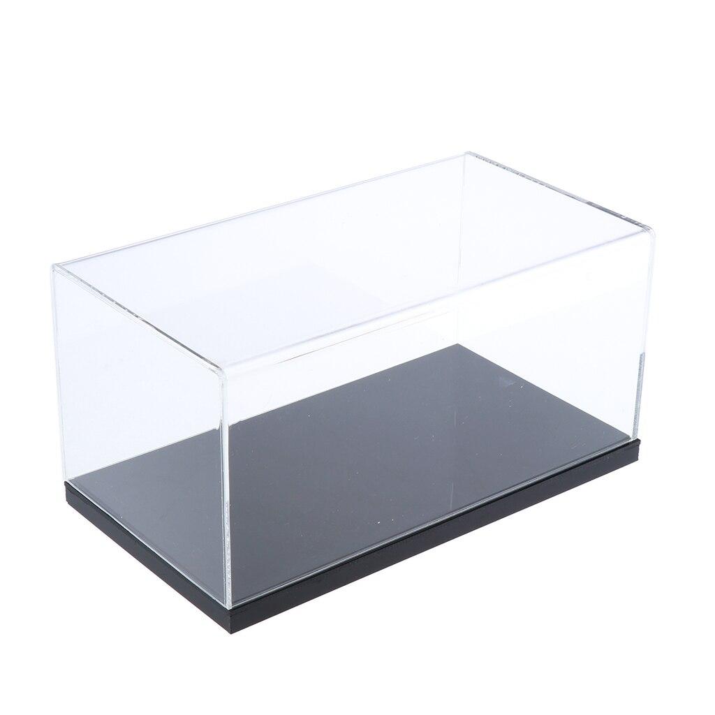 Présentoir acrylique transparent comptoir boîte Cube anti-poussière Protection vitrine pour figurines/jouets/objets de collection, 27x15x12cm