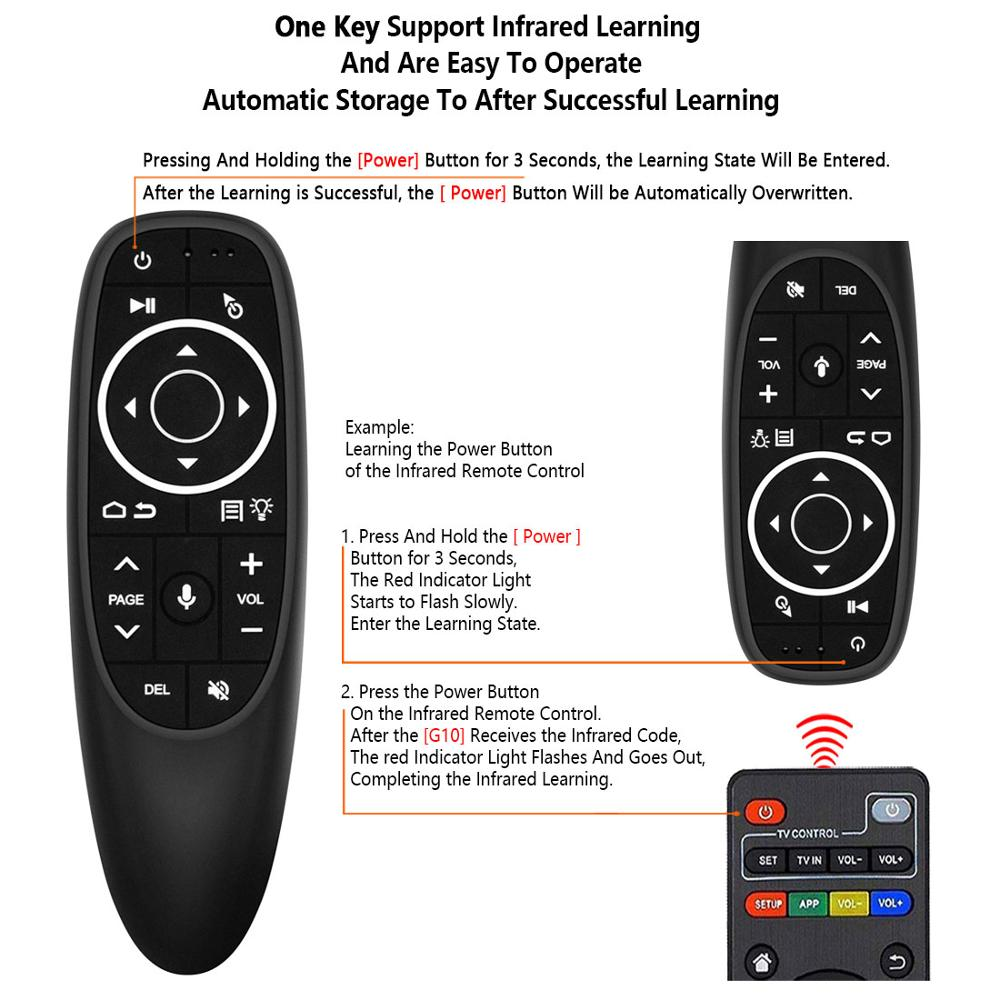 He418c60098bf421a9a2d33a6335eb637X G10 Remote Control 2.4GHz Wireless Air Mouse