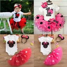 Платье для маленьких девочек 1St на день рождения вечерние юбка-пачка платье для новорожденного ребенка годовалого возраста платье для крещ...