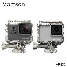 Vamson for Gopro hero7 6 5  Accessories Camouflage Protection Frame Housing Case Side opening with Screw for Go pro VP632