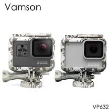 Vamson para Gopro hero7 6 5 accesorios marco de protección de camuflaje funda carcasa apertura lateral con tornillo para Go pro VP632