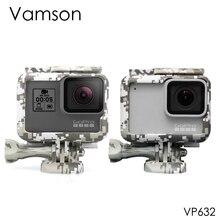 Vamson pour Gopro hero7 6 5 accessoires Camouflage Protection cadre boîtier boîtier ouverture latérale avec vis pour Go pro VP632