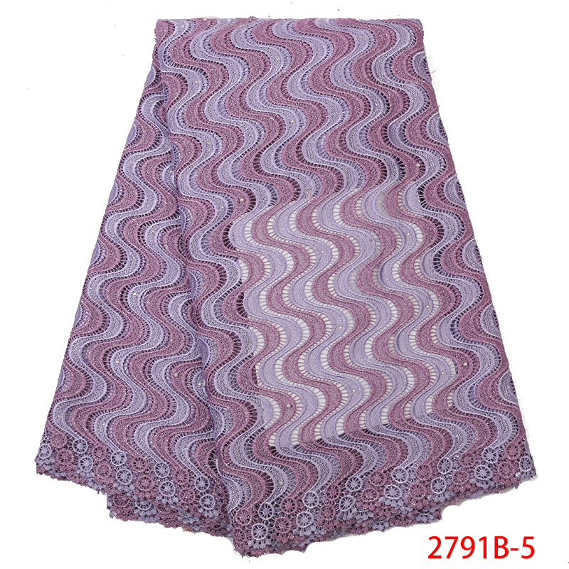 African Mesh Lace Fabric Newest Nigerian Guipure And Cord Lace With Stones High Quality Laces For Women Dresses KS2791B-5