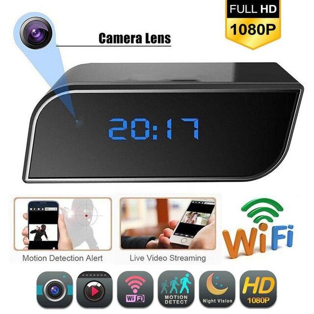 HD 1080P Wifi Clock Camera Mini IP Cam Video Audio DV DVR Recorder Night Vision Motion Detect Home Security P2P Micro Camcorder