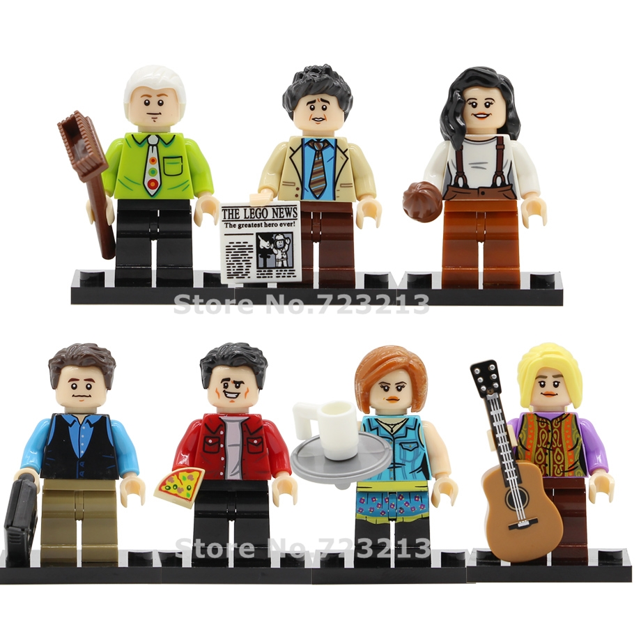 7pcs Friends Classic TV Figure Set Gunther Phoebe Ross Monica Geller Chandler Bing Joey Tribbiant Rachel Building Blocks Toys