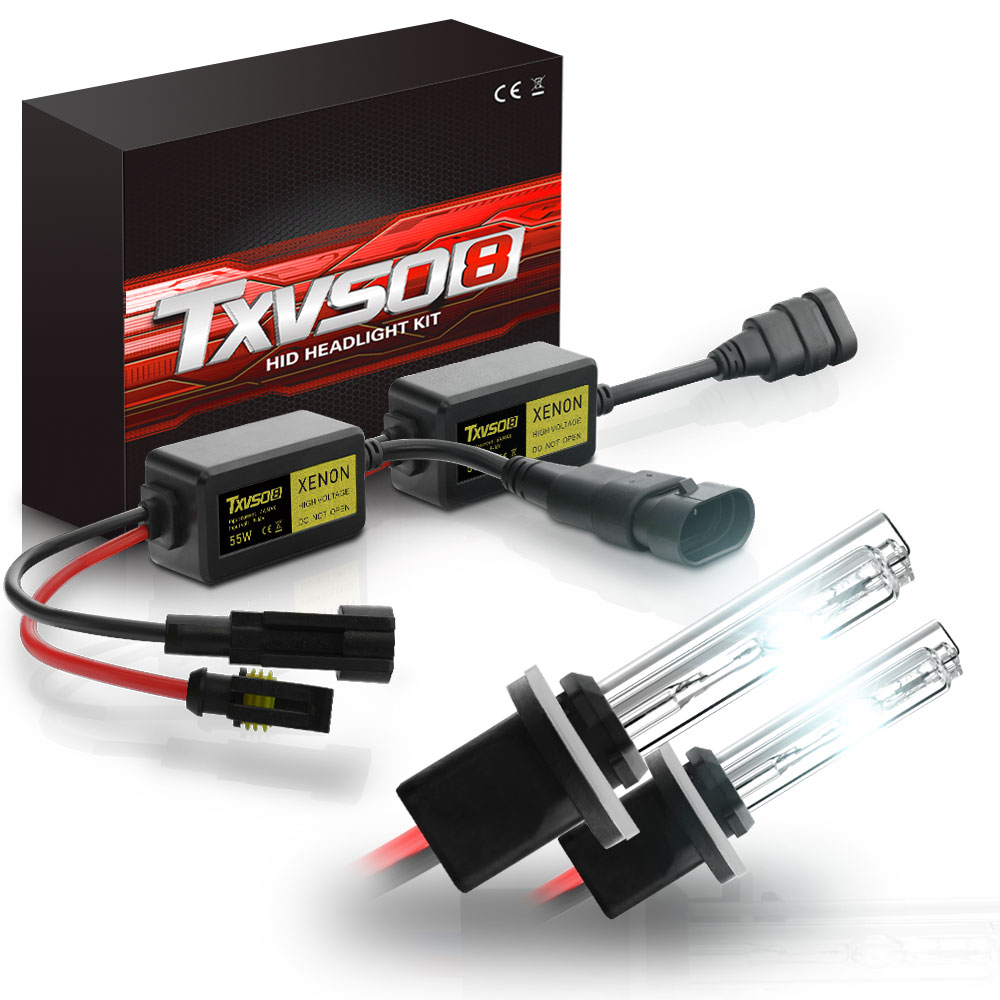 2pcs 55W HID <font><b>Xenon</b></font> Headlight Conversion <font><b>KIT</b></font> Bulbs H1 H3 <font><b>H4</b></font> H7 H11 9005 9006 880/881 3000K 4300K 5000K 6000K 8000K <font><b>10000K</b></font> LD Bulb image