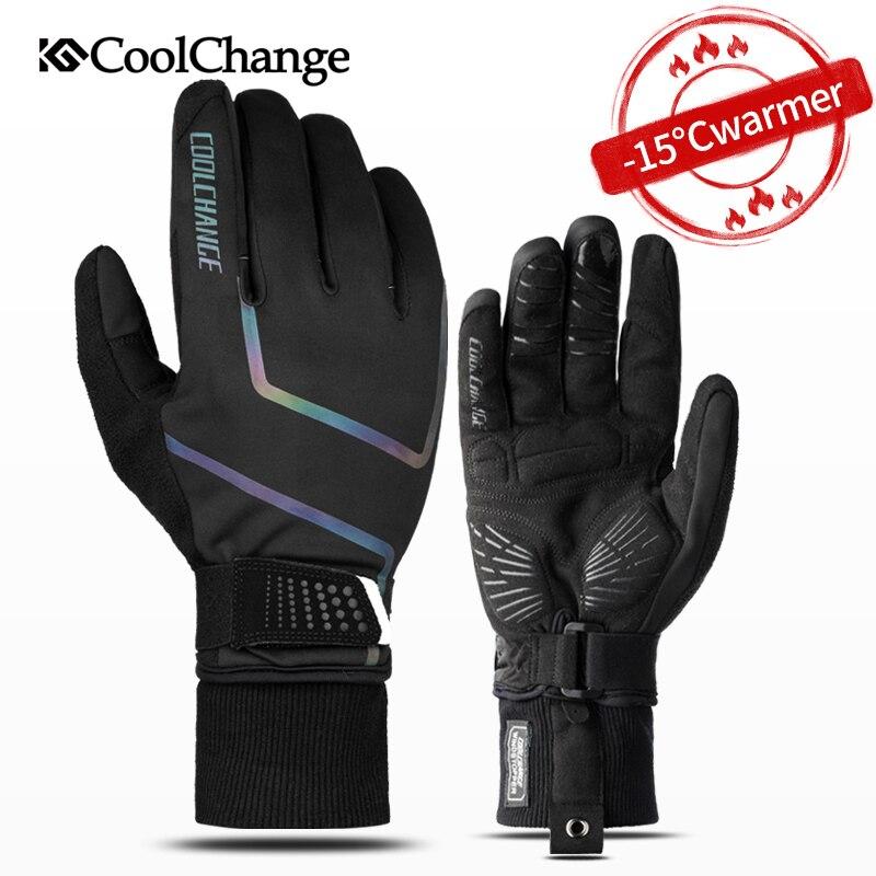 CoolChange Windproof Cycling Gloves Full Finger Sport Riding MTB Bike Gloves