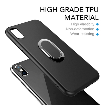 Case for Xiaomi Redmi Note 7 Pro 7S Note 8T 8 8A Pro K30i K30 Ultra 9 Prime Silicone Cover Magnetic Magnet Car Finger Ring Case image