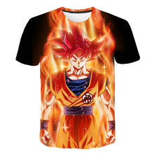 New DragonballS T-Shirt Kids 3D Print Boys Clothes Children 2021 Summer Hot JAPAN Cartoon Animation Girls Tops Shirts 4-14 years