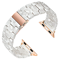Harz strap Für Apple Uhr 44mm band iwatch 42mm Serie 6 5 4 3 2 1 Handgelenk uhr zubehör schleife 38mm armband Ersatz 40mm