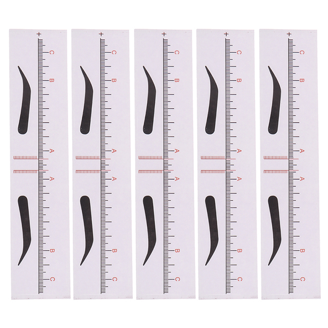 10pcs/set Eyebrow Stencils Template Ruler Sticker Measure Tattoo Makeup Tool DIY Drawing Shaper Template 1