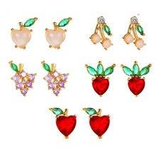Peixin модные популярные серьги в виде фруктов милые персиковой