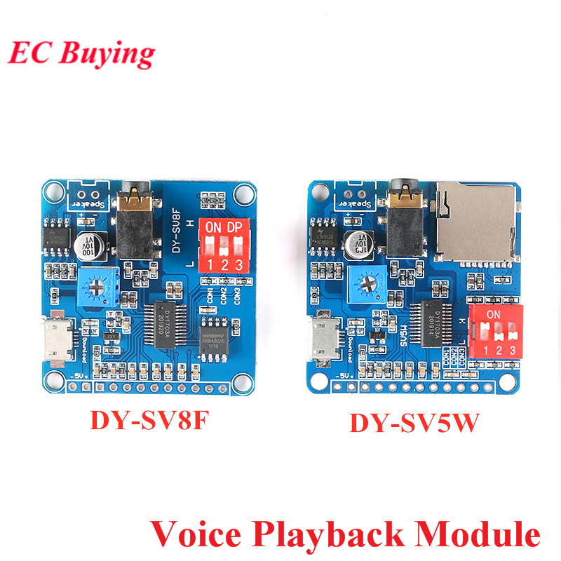 Voice Playback Module Board MP3 Music Player 5W MP3 Playback Serial Control SD/TF Card For Arduino DY-SV17F DY-SV5W DY-SV8F