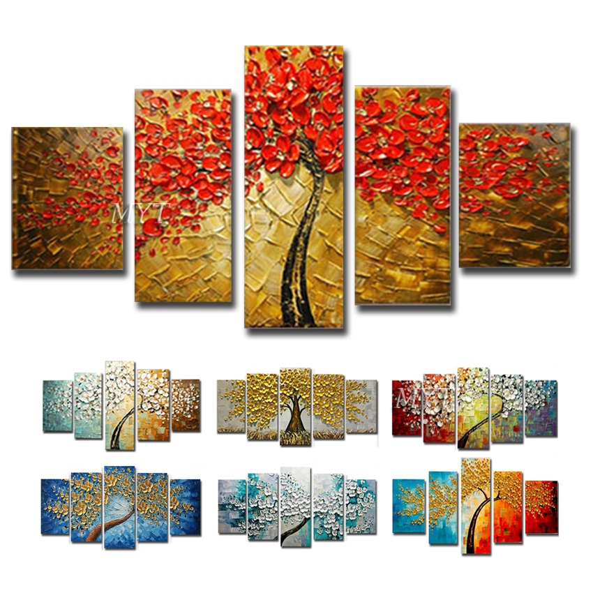 Hand-painted Oil Painting Abstract Painting On Canvas Wall Painting Gold Tree Bar Fresco Painting Decorative Oil Painting,