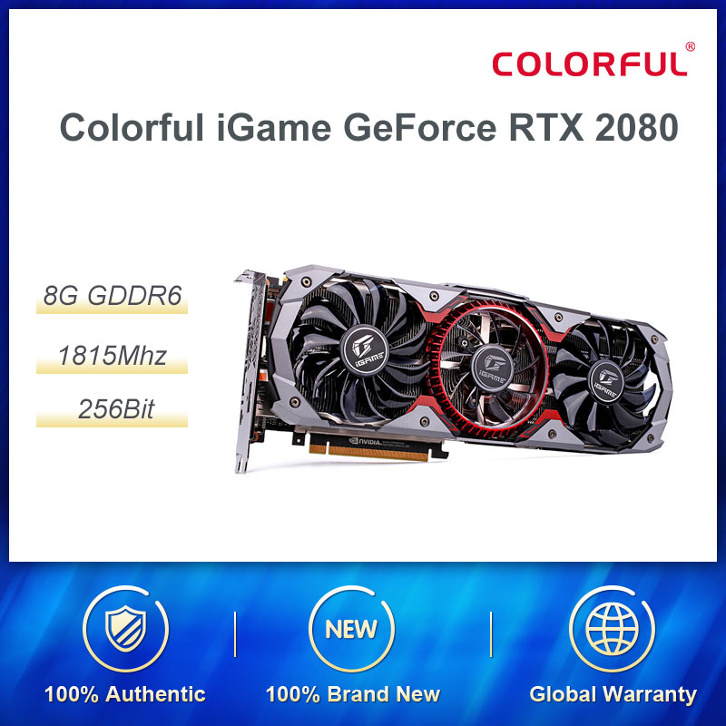 Colorful IGame GeForce RTX 2080 Advanced OC Desktop Gaming Computer Video Card PUBG Dedicated Graphics RGB Three Fans Cooler
