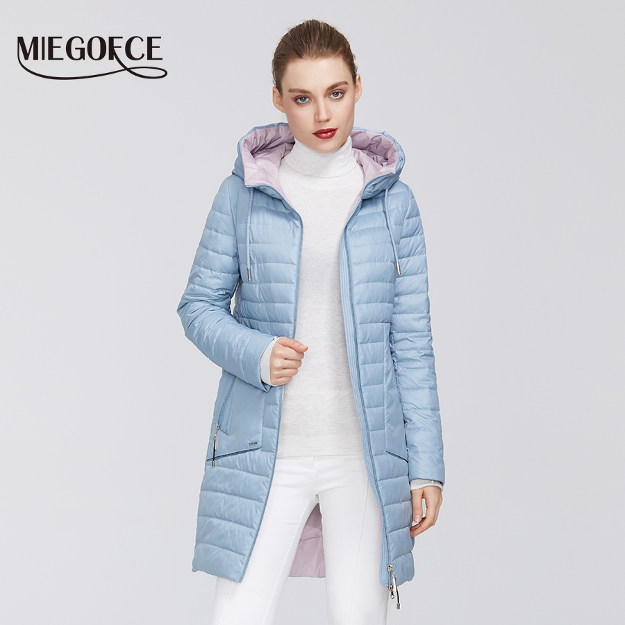 New Collection By MIEGOFCE 2020 Women's Jacket Warm Windproof Spring Jacket With Resistant Collar With Hood Zipper Pockets