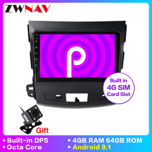 אנדרואיד 9.1 רכב dvd gps מולטימדיה נגן למיצובישי הנכרי xl 2 רכב gps navi וידאו אודיו נגן 4007 רדיו סוג מקליט