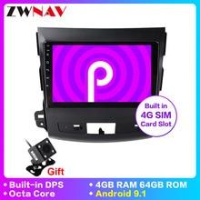 Android 9.1 xe ô tô DVD GPS đa phương tiện Cho Mitsubishi Outlander XL 2 GPS NAVI video âm thanh 4007 đài phát thanh loại đầu ghi