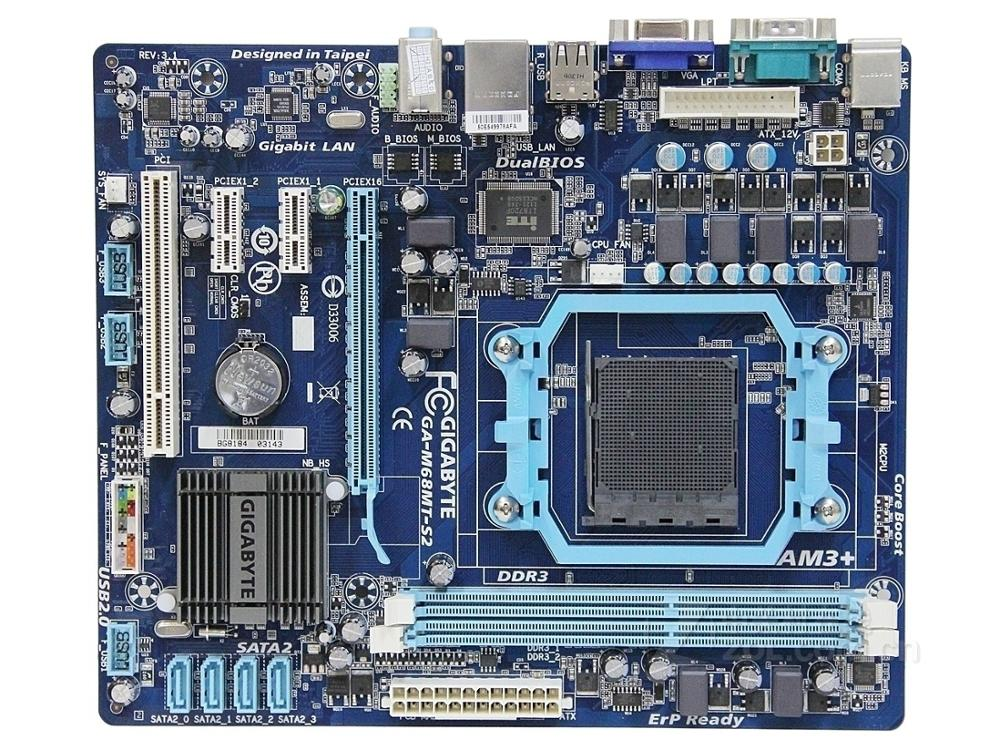 Original Desktop Motherboard For Gigabyte GA-M68MT-S2P GA-M68MT-S2 DDR3 Socket AM3 GM68MT-S2P M68MT-S2 USB2.0 Motherbaord