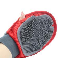 Гибкое использование вентиляция удобный уход за домашними животными красные перчатки гребень для кошек собак булавка Чистящая Щетка для ванны для расслабления мышц