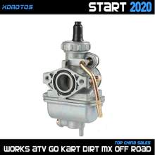 Motorcycle PZ20 20mm Carburetor Zinc Alloy Carb For keihi Taotao SSR 70cc 90cc 110cc Dirt Bike 4 Wheeler Go Karts ATV Quad