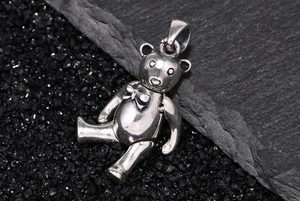 Image 5 - New Pure silver S925 Sterling Silver Bear Pandent Bear Keychian Men Women 925 Silver Bear Jewelry Animal Pendant Gift