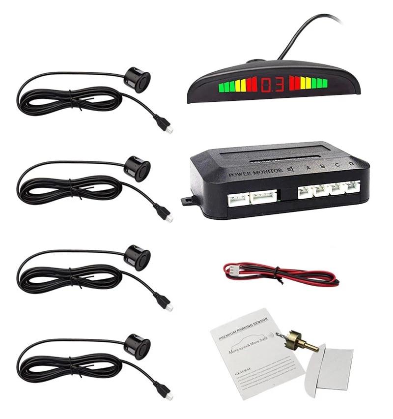 Eunavi 1 комплект Авто парктроник светодиодных датчиков парковки