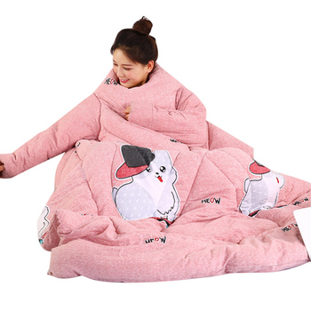 2019 Hot Lazy Quilt with Sleeves Warm Thicken Blanket Multifunction Soft for Home Winter Nap L5 #4