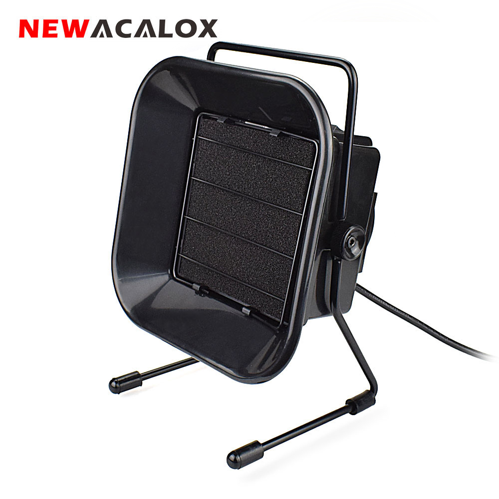 NEWACALOX EU Adjustable Welding Solder Smoke Absorber Remover Fume Extractor Carbon Filter Quiet Fan for ESD Soldering Station