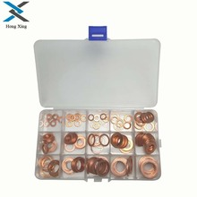 150pcs Copper Washer 15Sizes Solid Sealing Ring Set M5/6/7/8/10/10.5/11/12/12.5/14/15/16/16.5/17.5 Copper Gasket Washers omy 150pcs copper washers set solid copper washer gasket sealing ring assortment kit set with case 15 sizes for hardware tools