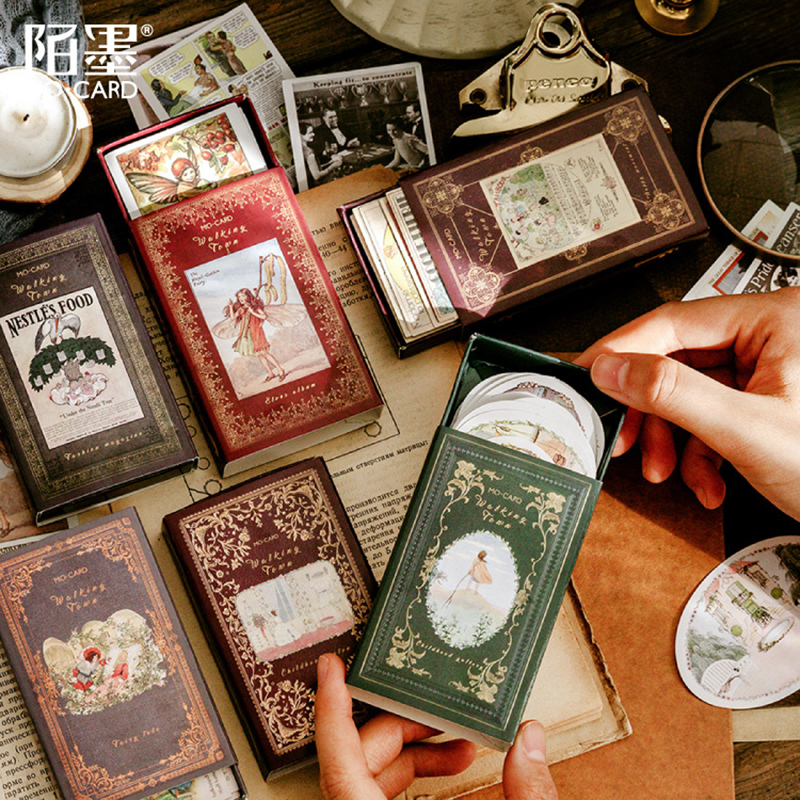 60pcs/box Matchbox Sticker Stationery Decoration DIY Stickers Scrapbooking Stick Label Diary Album Bullet Journal Stickers