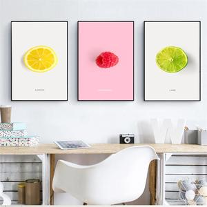 Модные лимонно-оранжевые картины с фруктовым принтом, декор для кухни, скандинавские плакаты, минималистичные настенные художественные фотографии