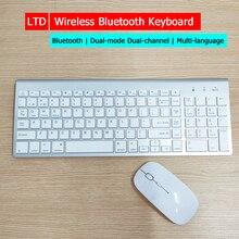 Wireless Bluetooth Keyboard Mouse Set For Desktop Laptop Tablet Russian Arabic Thai Hebrew Spanish French Italian Korean Keybord