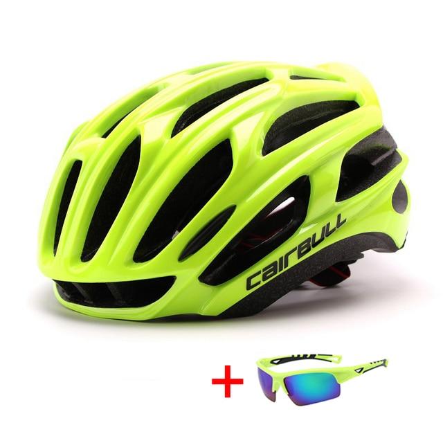 In-mold mountain bike estrada capacete da bicicleta com óculos de sol unisex esportes equitação ciclismo capacete ultraleve xc mtb bicicleta capacete 4