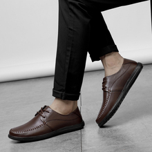 Size 36-46 Business Leather Flats *H905 Brand Full Grain Men Oxford Shoes British Style Retro Carved Formal Dress