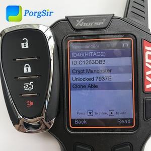 Image 3 - Genuine 4 Button 434MHz Keyless Go Remote Control Key for Chevrolet Camaro Malibu 2016 2017 13508771 With 7937E Hitag2 ID46 Chip