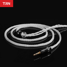 TRN T6 16 Core Silver Plated OCC Copper Litz  With 2PIN Connector Upgraded Earphones Cable For KZ ZSX ZAX TRN VX V90S CCA C12