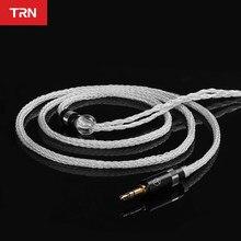 Câble d'écouteurs en cuivre plaqué argent TRN T6, 16 cœurs, avec connecteur 2 broches, mise à niveau, pour KZ ZSX ZAX TRN VX V90S CCA C12