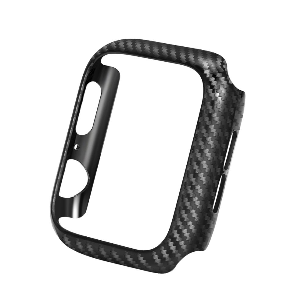 Watch Cover Case For Apple Watch 4 5/3/2/1 40mm 44mm Carbon Fiber Pattern PC Cases For IWatch Series 3 2 42mm 38mm