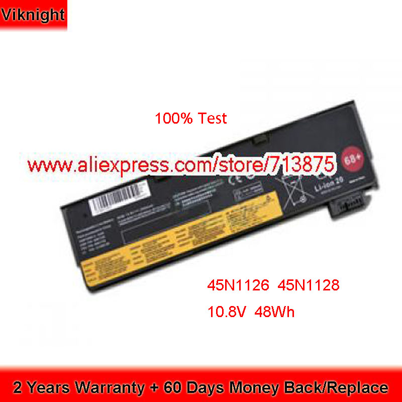 100% Test 10.8V 48Wh 0C52861 45N1127 45N1126 45N1128 45N1129 Batterie pour Lenovo X240 x250 T440S Ordinateur Portable