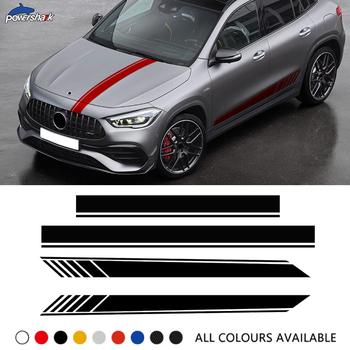 Edition 1 Car Door Side Stripes Sticker Hood Rear Body Decal For Mercedes Benz GLA Class X156 GLA45 AMG GLA200 250 Accessories image